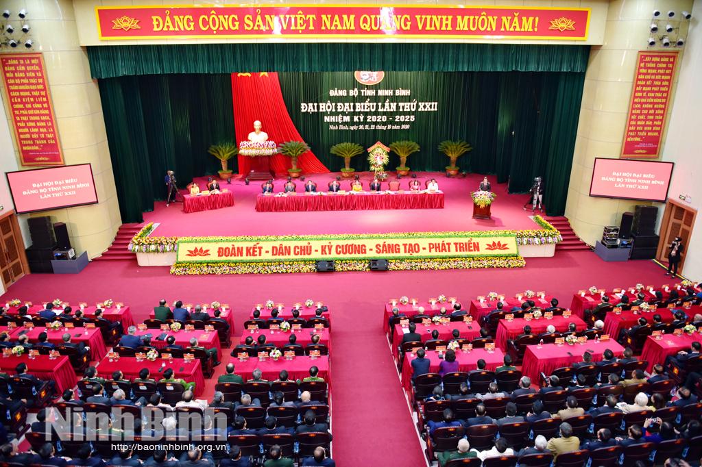 Tường thuật trực tiếp Phiên khai mạc Đại hội đại biểu Đảng bộ tỉnh Ninh Bình lần thứ XXII nhiệm kỳ 20202025