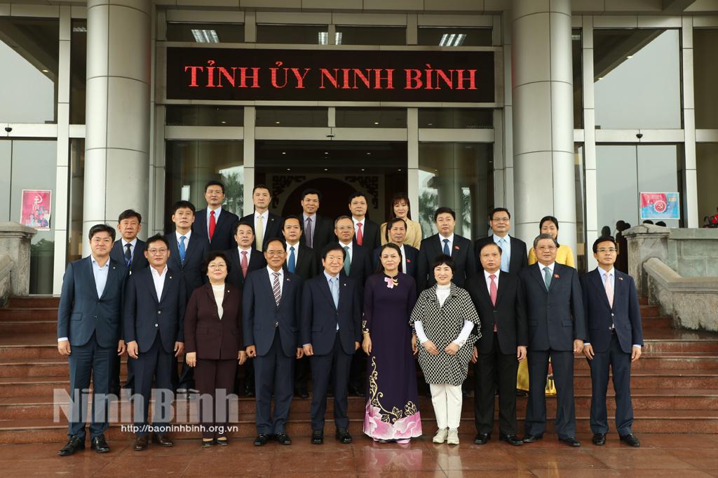 Chủ tịch Quốc hội Hàn Quốc về thăm và làm việc tại Ninh Bình