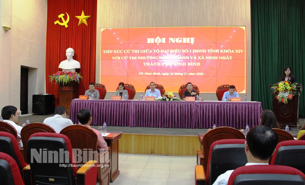 Đại biểu HĐND tỉnh tiếp xúc cử tri