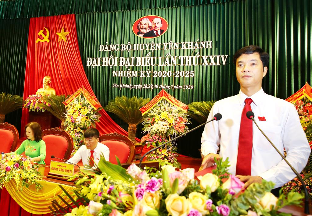Khai mạc Đại hội đại biểu Đảng bộ huyện Yên Khánh lần thứ XXIV nhiệm kỳ 2020 2025