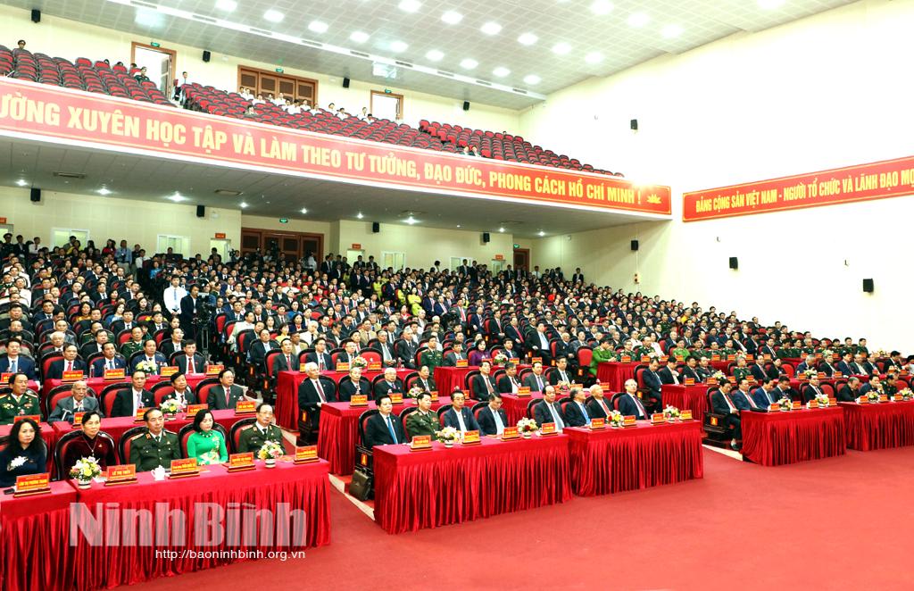 Tường thuật trực tiếp: Phiên khai mạc Đại hội đại biểu Đảng bộ tỉnh Ninh Bình lần thứ XXII, nhiệm kỳ 2020-2025
