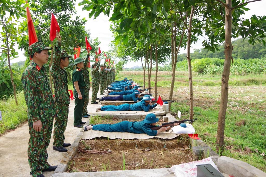 Hội thao Trung đội dân quân cơ động huyện Yên Mô
