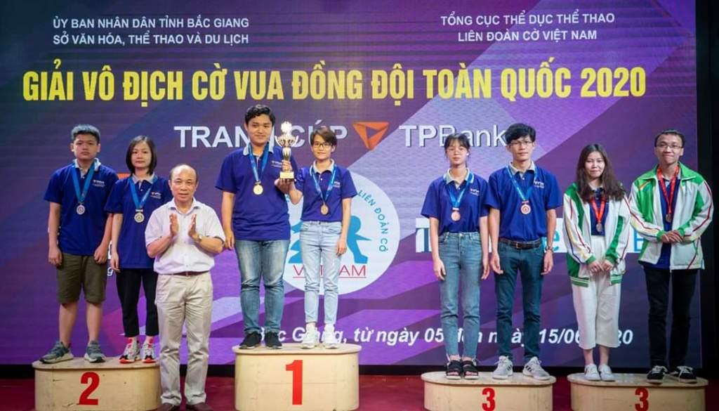 Ninh Bình đạt 1 huy chương bạc tại Giải vô địch cờ vua đồng đội toàn quốc 2020