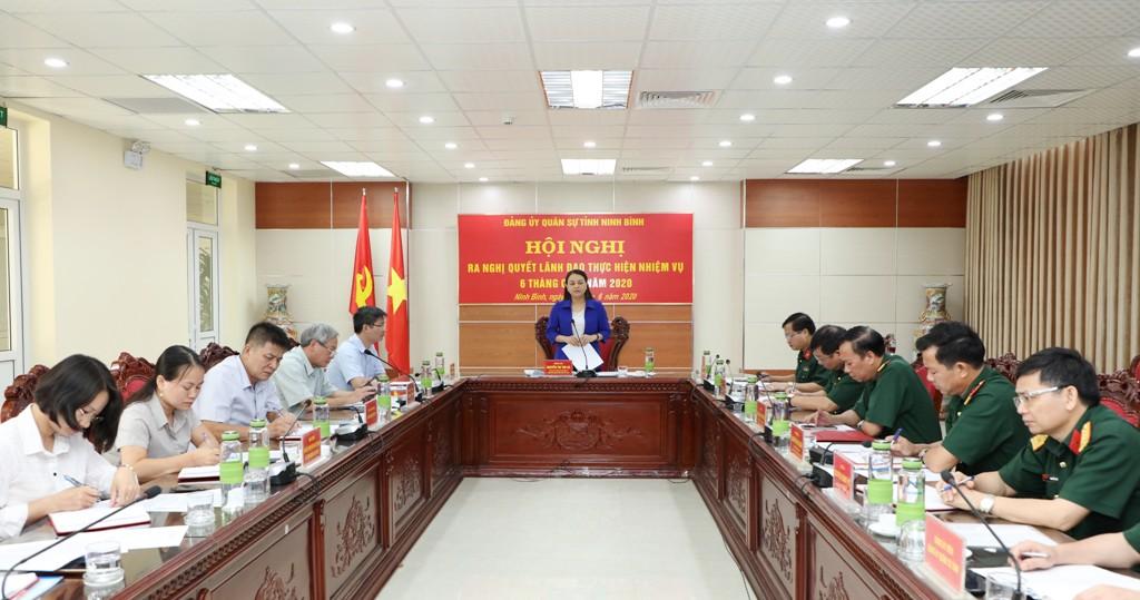 Đảng ủy Quân sự tỉnh ra nghị quyết lãnh đạo thực hiện nhiệm vụ 6 tháng cuối năm 2020
