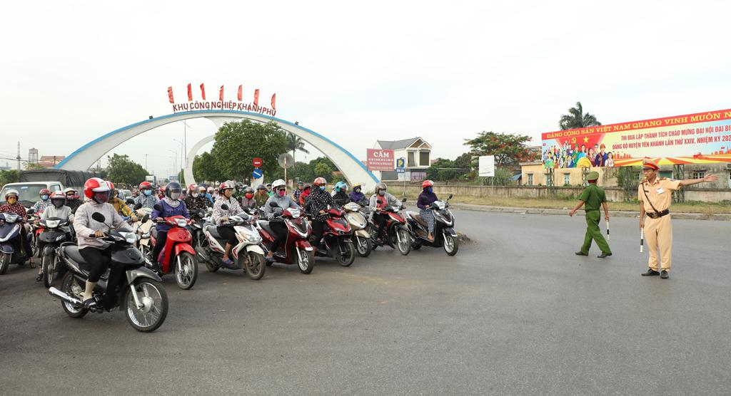 Yên Khánh: Tăng cường đảm bảo trật tự an toàn giao thông tại các khu, cụm công nghiệp