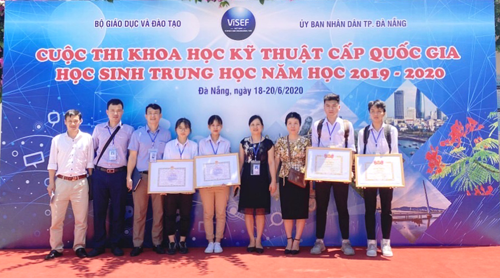 Học sinh Ninh Bình đạt 2 giải tại Cuộc thi KHKT cấp Quốc gia