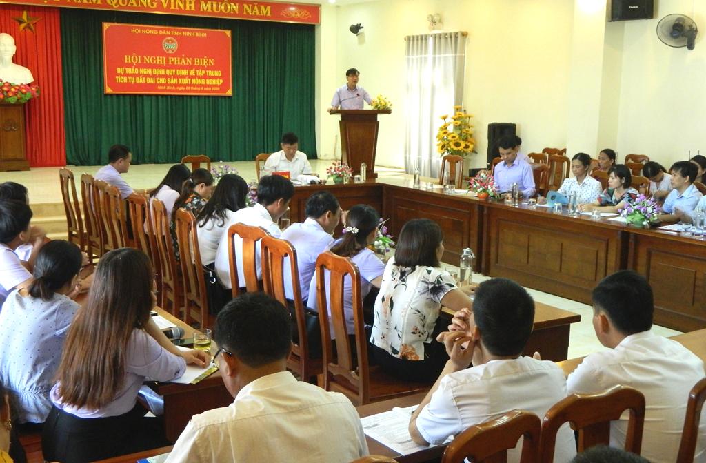 Hội nghị phản biện xã hội dự thảo quy định về tập trung, tích tụ đất đai