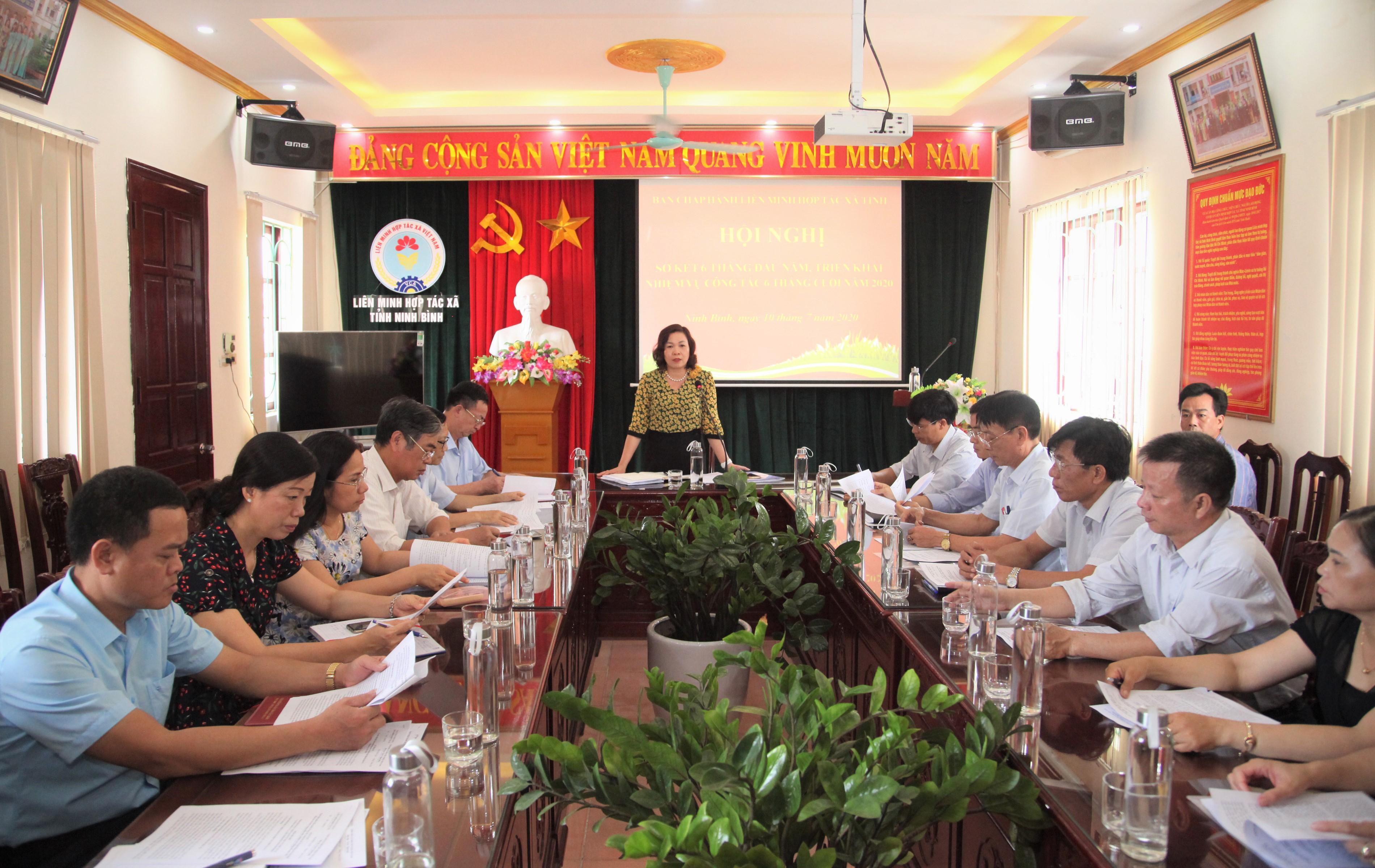 Liên minh HTX tỉnh sơ kết công tác 6 tháng đầu năm 2020