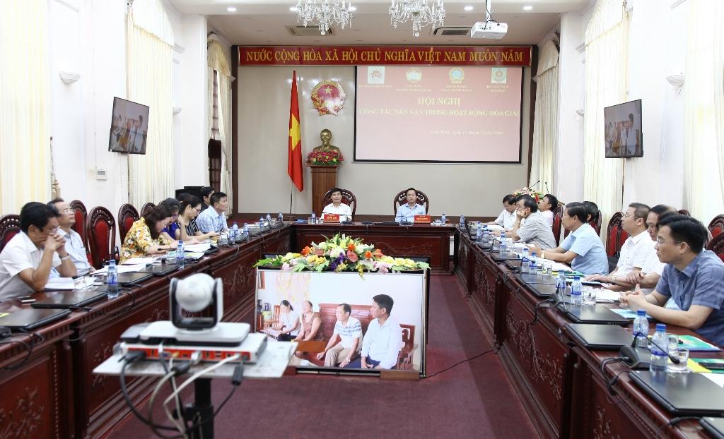 Hội nghị trực tuyến về công tác dân vận trong hoạt động hòa giải