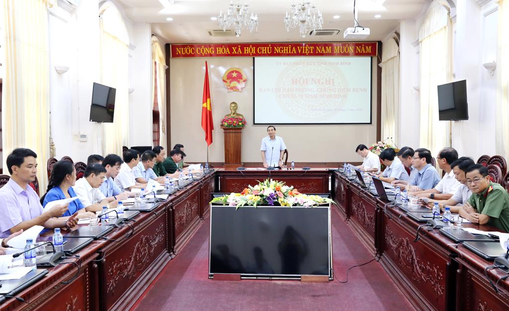 Hội nghị Ban chỉ đạo phòng, chống dịch bệnh COVID-19 tỉnh Ninh Bình