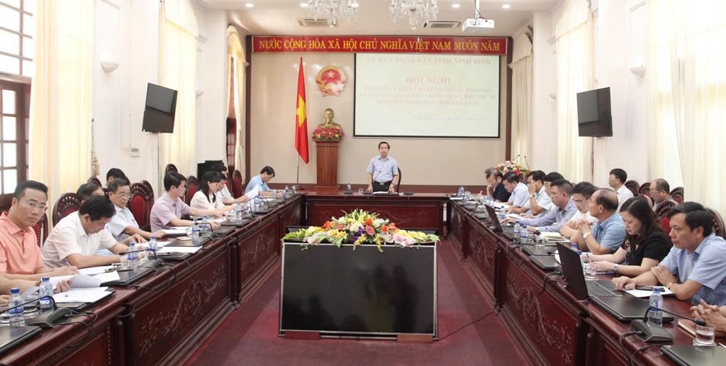 Lấy ý kiến đóng góp vào dự thảo các báo cáo, tờ trình, nghị quyết trình tại kỳ họp thứ 19, HĐND tỉnh khóa XIV