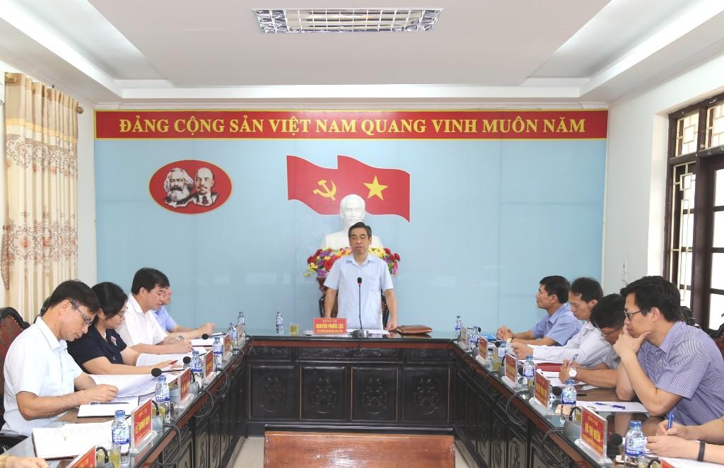 Ban Dân vận Trung ương làm việc tại Nho Quan