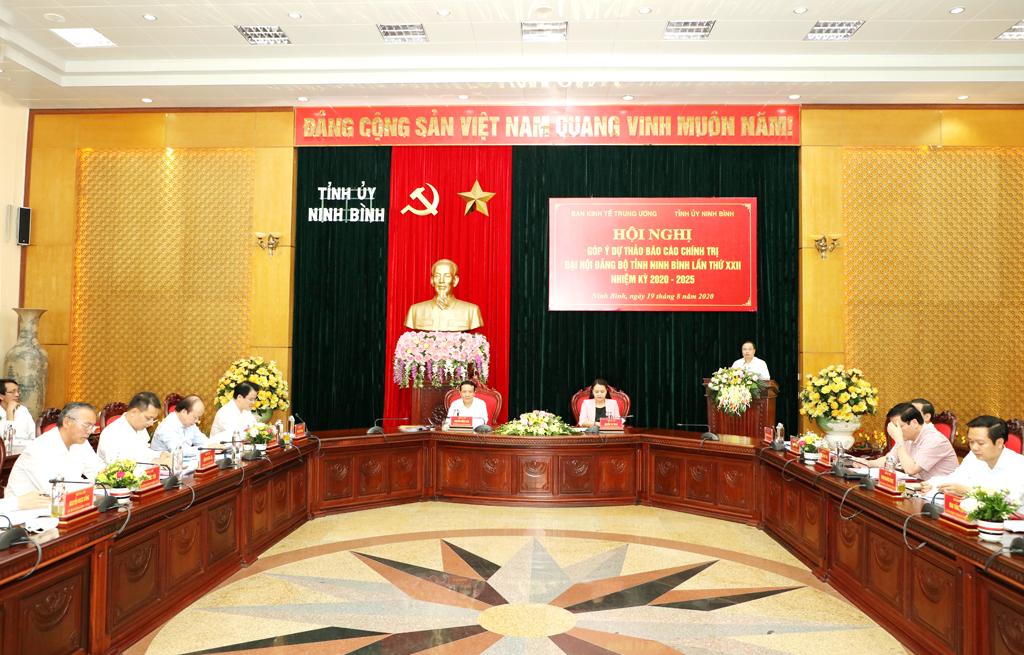 Đoàn công tác của Ban Kinh tế Trung ương làm việc với Ban Thường vụ Tỉnh ủy