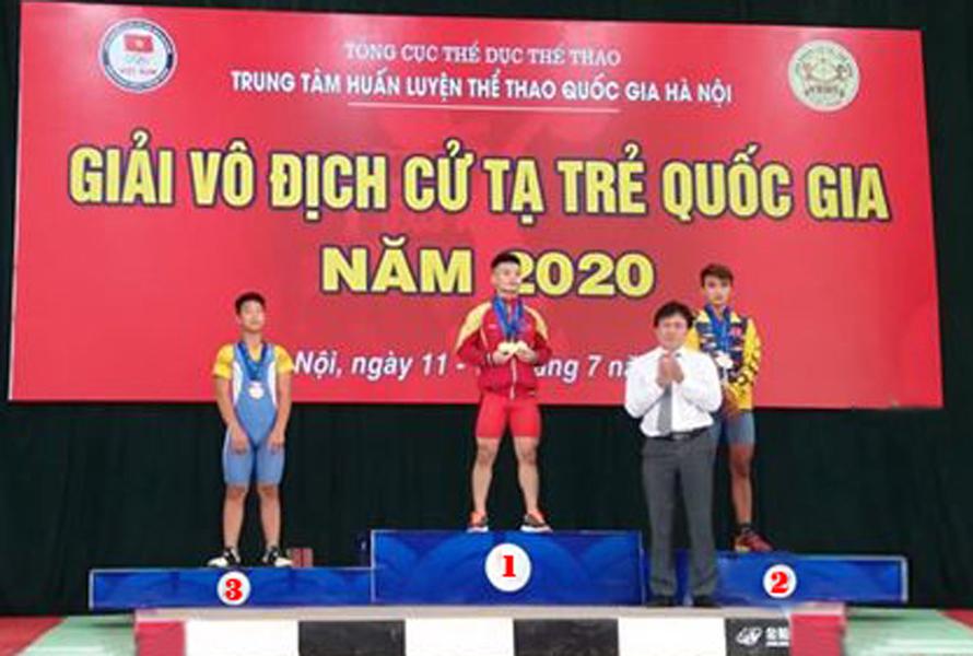 Cử tạ Ninh Bình giành 4 huy chương đồng giải vô địch cử tạ trẻ toàn quốc 2020