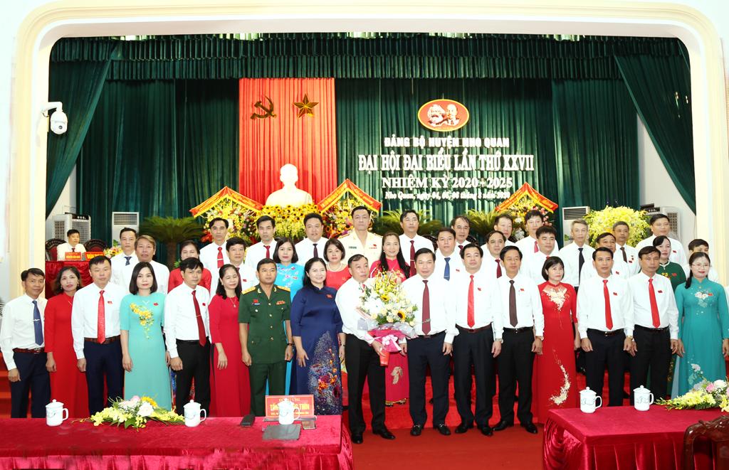 Đồng chí Đinh Văn Tiên tái đắc cử Bí thư Huyện ủy Nho Quan khóa XXVII