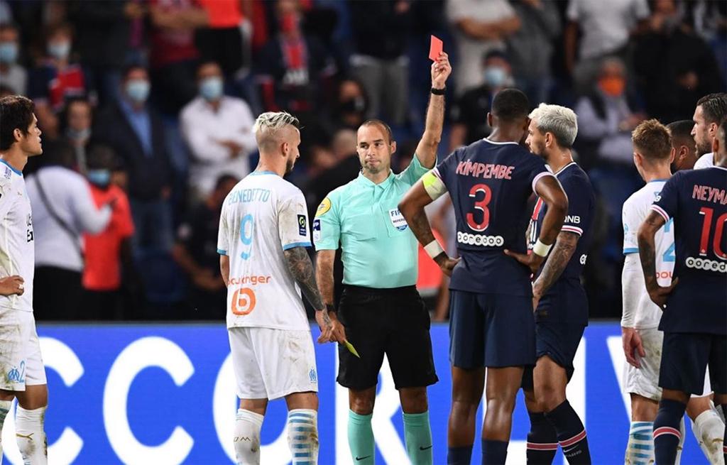 5 cầu thủ phải nhận thẻ đỏ trong trận Marseille đánh bại PSG