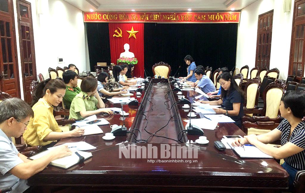 Kiểm tra an toàn thực phẩm tại thành phố Ninh Bình