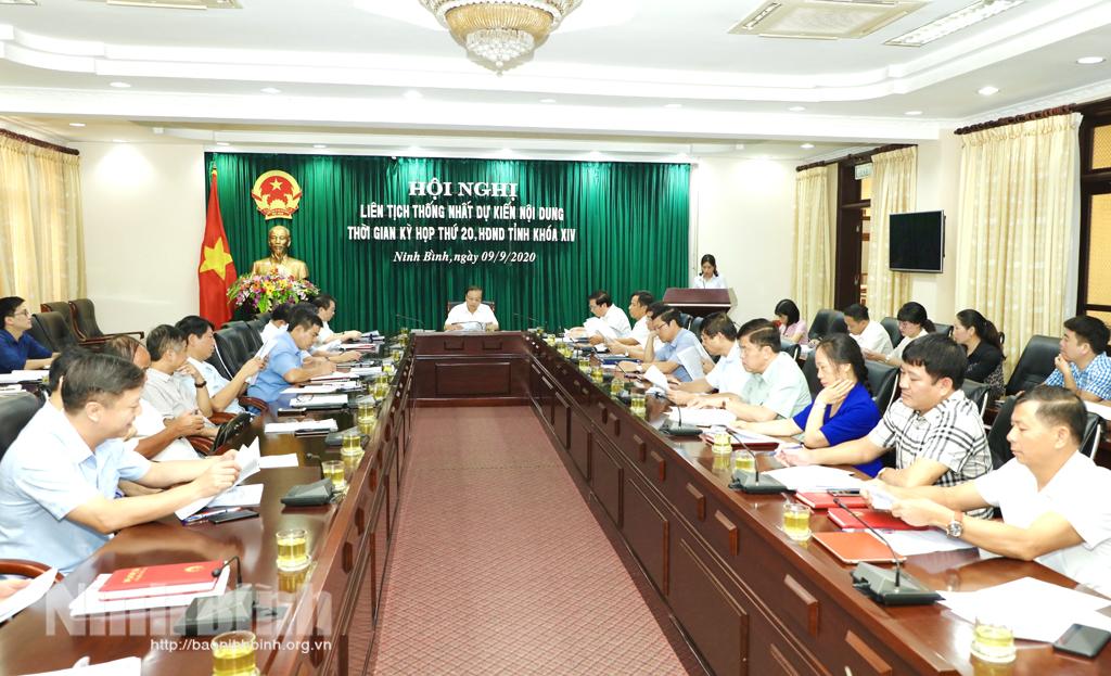 Hội nghị liên tịch thống nhất dự kiến nội dung, thời gian Kỳ họp thứ 20, HĐND tỉnh khóa XIV