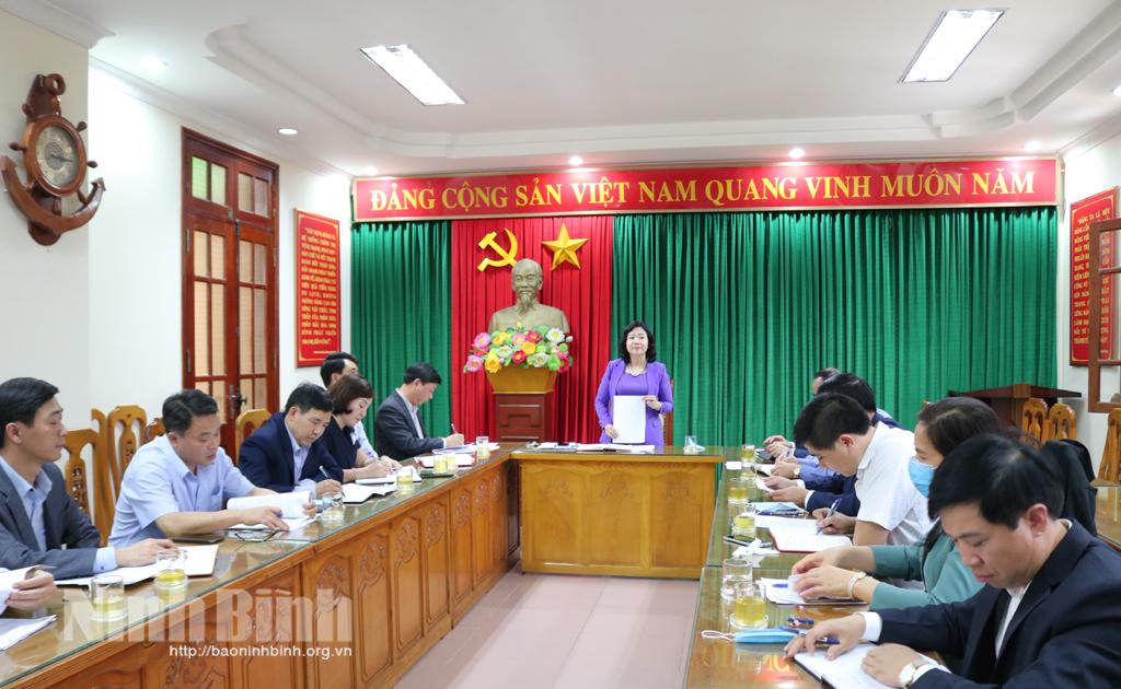 Hội nghị Tiểu ban Thông tin, tuyên truyền phục vụ công tác bầu cử đại biểu Quốc hội và đại biểu HĐND tỉnh