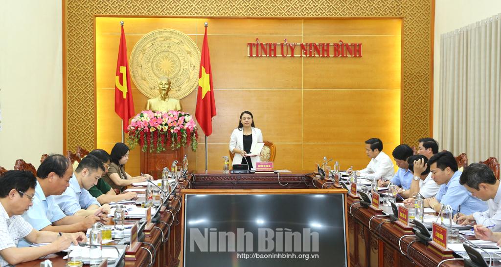 Hội nghị báo cáo công tác chuẩn bị tổ chức Lễ khai mạc Năm Du lịch Quốc gia 2021