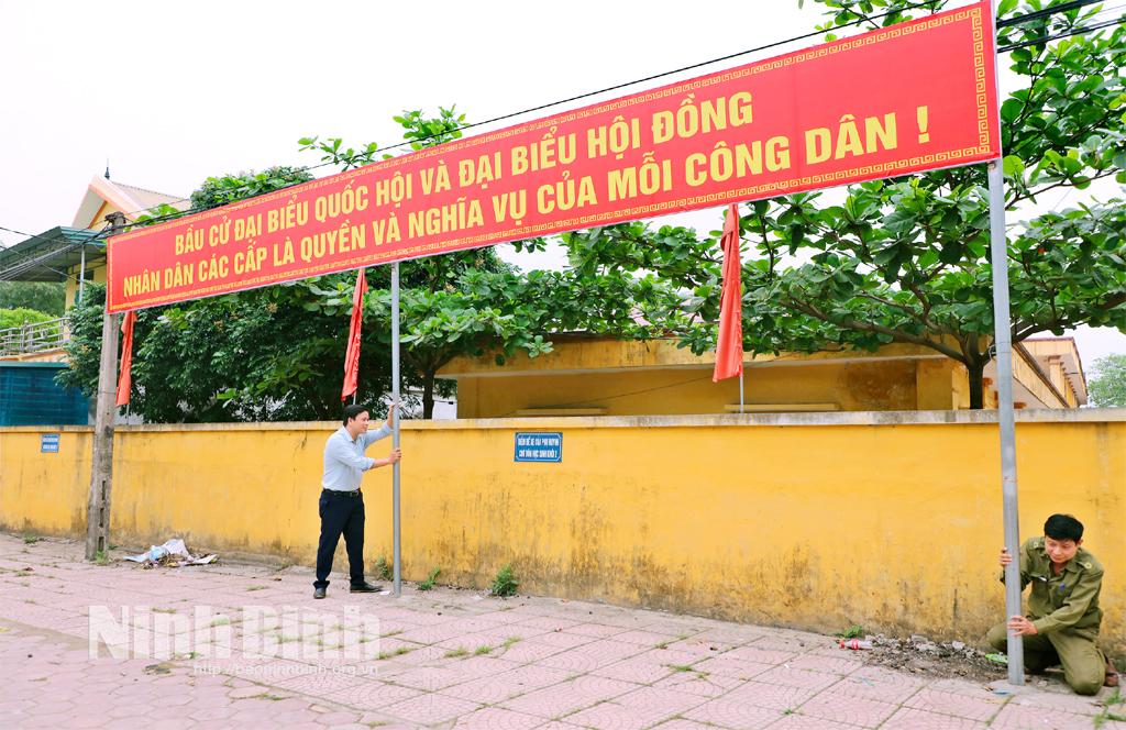 Yên Sơn chuẩn bị cho ngày bầu cử