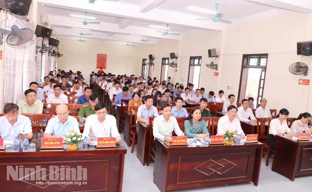 Kim Sơn sơ kết công tác bầu cử đại biểu Quốc hội khóa XV và đại biểu HĐND các cấp nhiệm kỳ 2021 - 2026