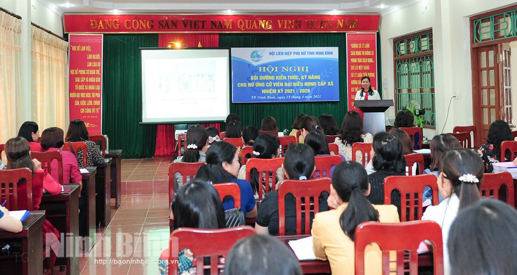 Các cấp Hội Phụ nữ trong tỉnh tích cực tham gia công tác bầu cử