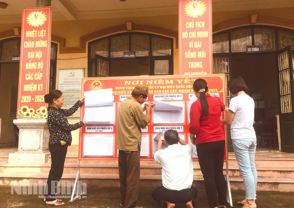 Khánh An tích cực chuẩn bị cho công tác bầu cử