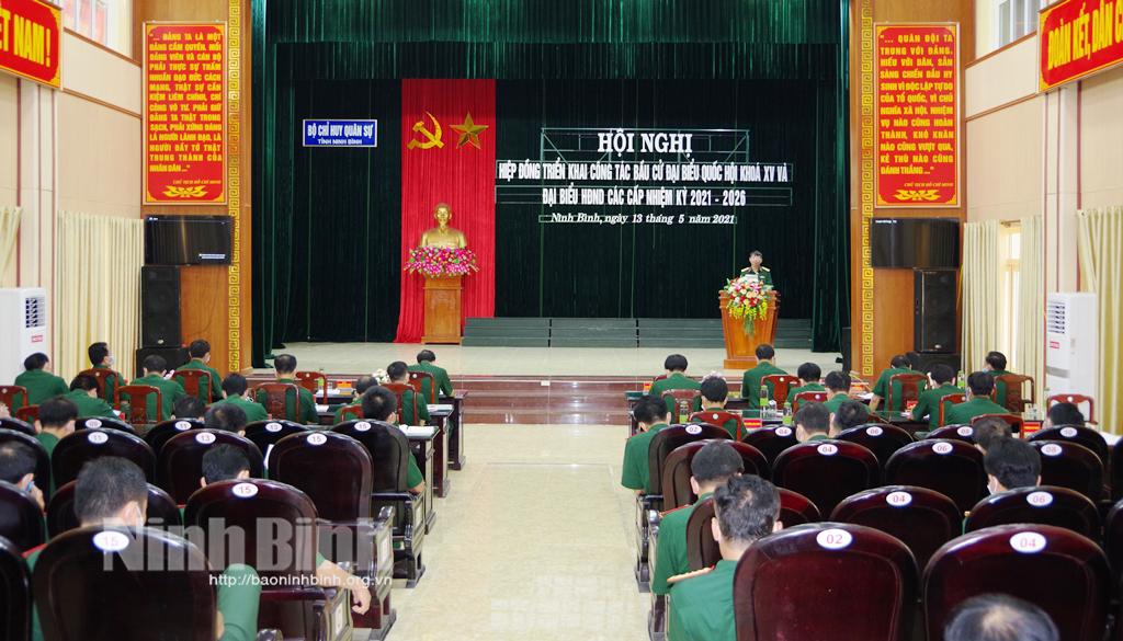 Bộ CHQS tỉnh hiệp đồng triển khai công tác bầu cử với các đơn vị quân đội đóng quân trên địa bàn tỉnh