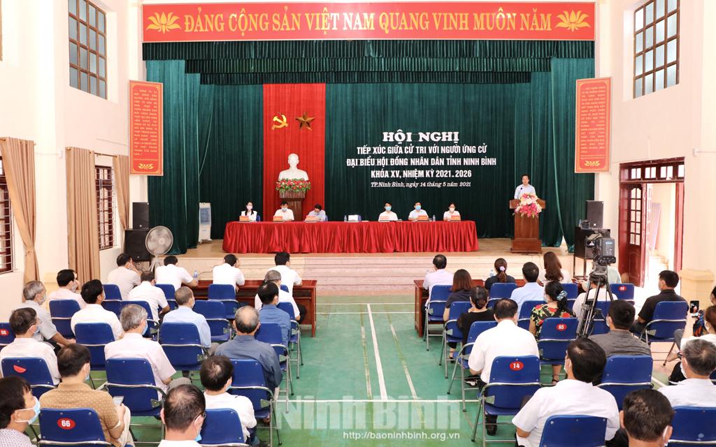 Hội nghị tiếp xúc giữa cử tri với người ứng cử đại biểu HĐND tỉnh