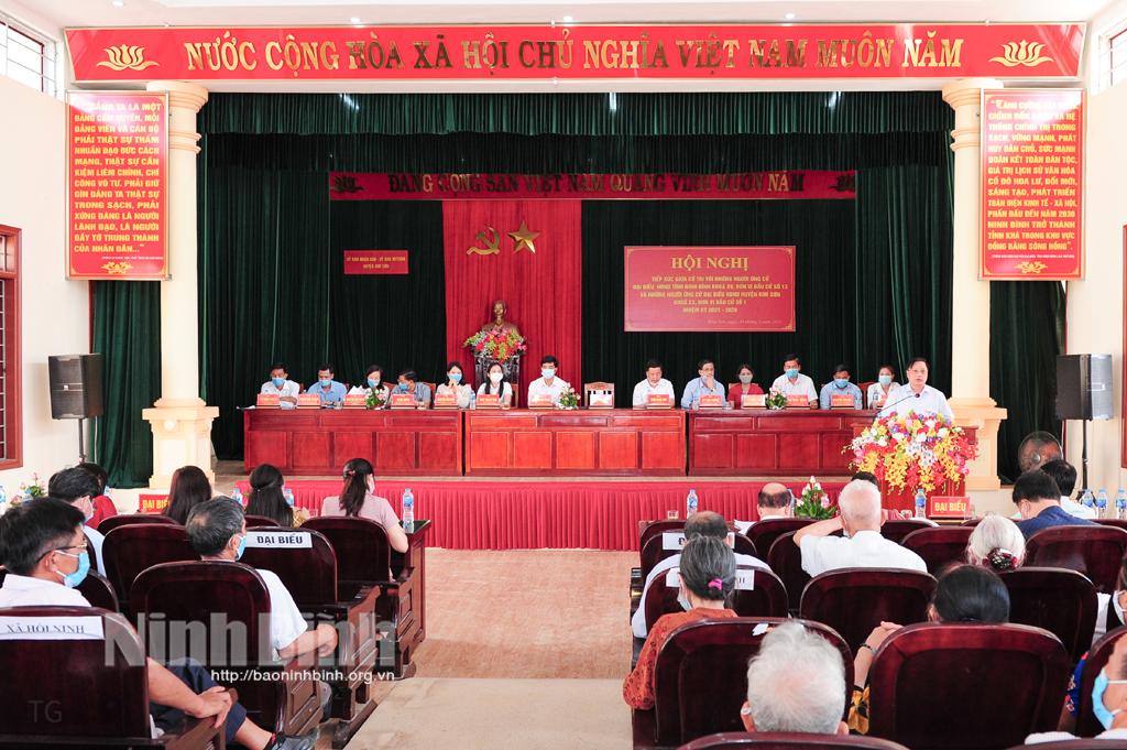 Tiếp xúc giữa cử tri với những người ứng cử đại biểu HĐND tỉnh khóa XV, nhiệm kỳ 2021- 2026