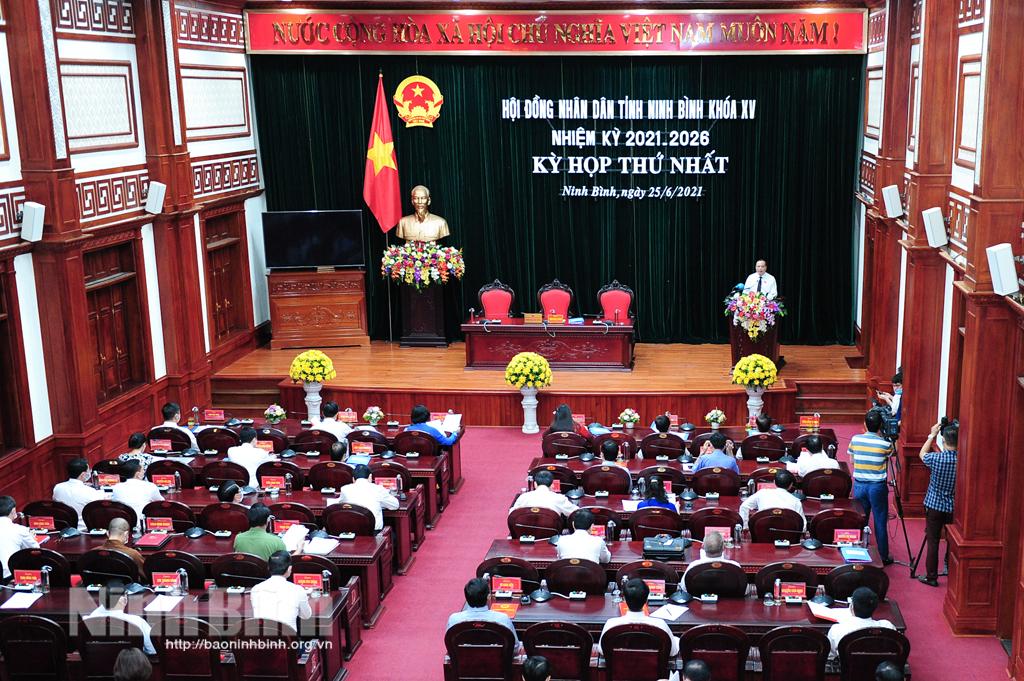 Khai mạc kỳ họp thứ nhất, HĐND tỉnh khóa XV, nhiệm kỳ 2021-2026