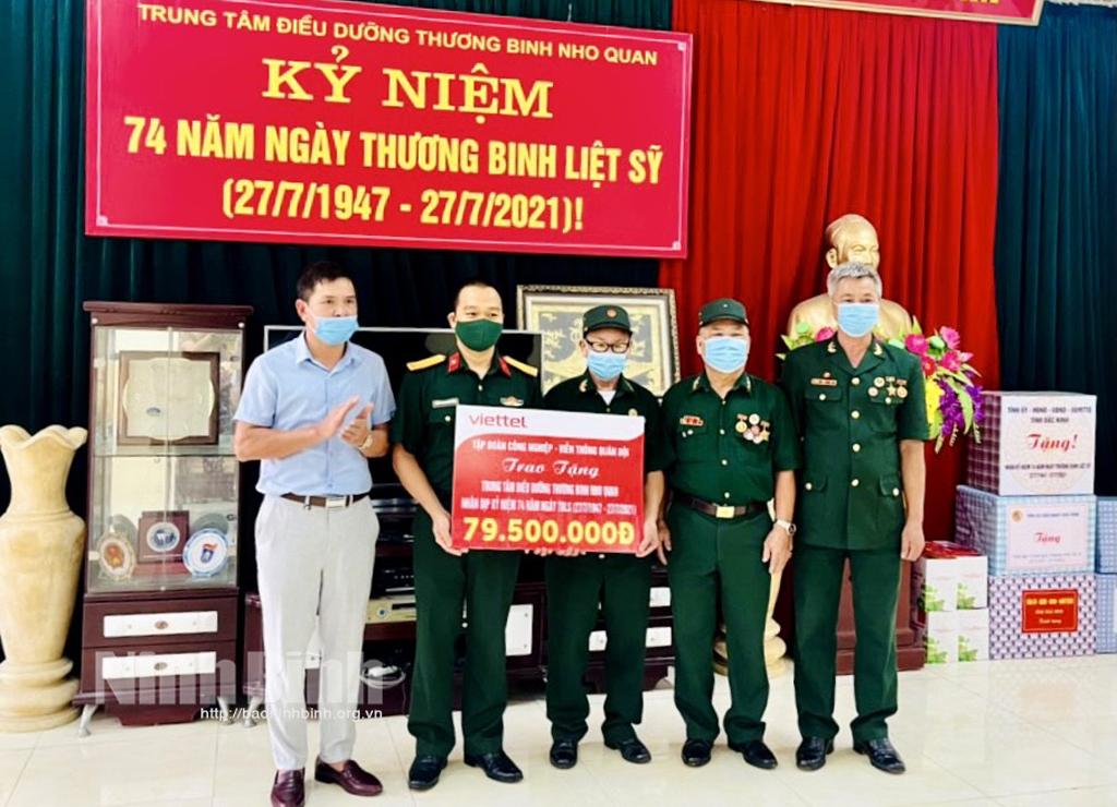 Viettel Ninh Bình thăm, tặng quà thương, bệnh binh